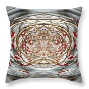 Winter Versus Spring Thaw Throw Pillow