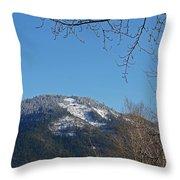 Winter Vista From Grants Pass Throw Pillow