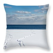 Winter Walks Throw Pillow