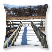 Winter Walkway Throw Pillow