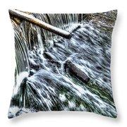 Winter Waterfall 2 Throw Pillow