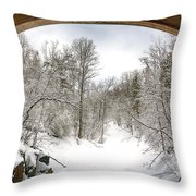 Winter Welcome Throw Pillow