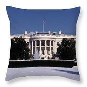 Winter White House  Throw Pillow