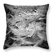 Snowy Boughs Throw Pillow