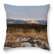 Winter Wilderness Landscape Yukon Territory Canada Throw Pillow