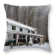 Winter Wonderland At The Valley Green Inn Throw Pillow