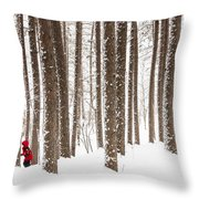 Winter Frolic Throw Pillow