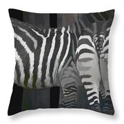 Winter Zebras Throw Pillow