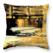Winterlude At Robin Hood Dell Throw Pillow