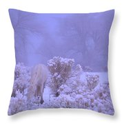 Winter's Blanket Of Snow  Throw Pillow by Jeanne  Bencich-Nations