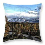 Winters Breath Throw Pillow