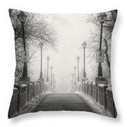 Winters Bridge Throw Pillow by Stuart Deacon