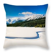 Winters Calm Throw Pillow