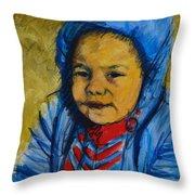Winter's Child Throw Pillow
