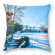 Winters Day Photo Art From The Fence Throw Pillow
