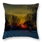 Winters Drive Throw Pillow