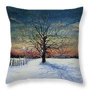 Winters Eve Throw Pillow