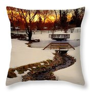 Winters Exit Throw Pillow