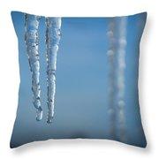 Winter's Fangs Throw Pillow