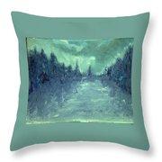 Winters Fog Throw Pillow
