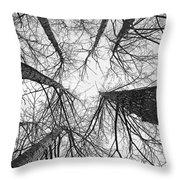Winter's Forest Throw Pillow