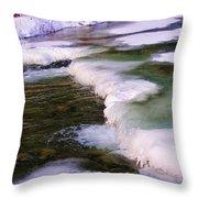 Winters Ice Throw Pillow