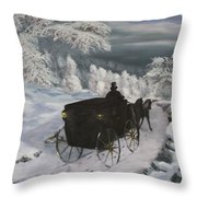 Winters Journey Throw Pillow