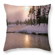 Winters Light Throw Pillow