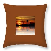 Winter's Reflection Throw Pillow
