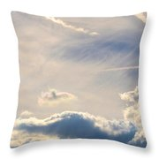Winter's Streamlined Skies Throw Pillow