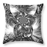 Winter's Vortex Throw Pillow