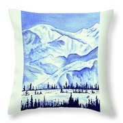 Winter's White Blanket Throw Pillow
