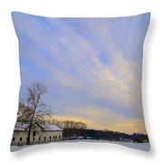 Wintertime At Widener Farms Throw Pillow