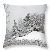 Wintery Fun Throw Pillow
