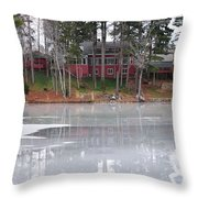Wintery Reflection Throw Pillow by Frozen in Time Fine Art Photography