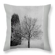 Wintery Tree Throw Pillow