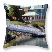 Winthrop Harbor Shore Throw Pillow