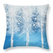 Wintry Mix Throw Pillow by Linda Bailey