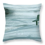 Wintry Riverside Throw Pillow