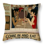 Wintzell's Oyster House Sign - Mobile Alabama Throw Pillow