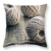 Wire In Great Background Throw Pillow