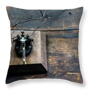 Wire Message Throw Pillow