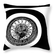 Wire Wheel Throw Pillow