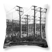 Wired Palm Springs Throw Pillow