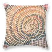 Wireframed Spiral Throw Pillow