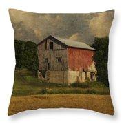 Wisconsin Barn Throw Pillow