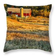 Wisconsin - Country Morning Throw Pillow