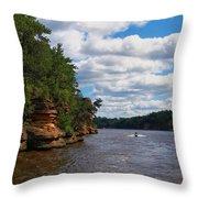 Wisconsin Dells Jetski Throw Pillow