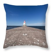 Wisconsin Point Lighthouse 6 B Throw Pillow