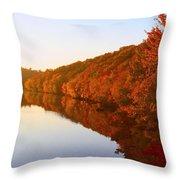 Wisconsin River Sunrise Throw Pillow